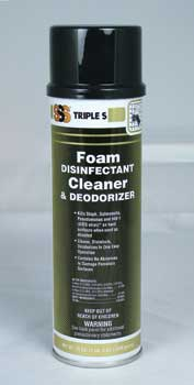 SSS Disinfectant 12x19OZ CN/CS Aerosol Foaming Disinfectant