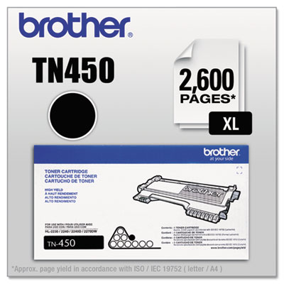 BROTHER TN450 High-Yield Toner, Black