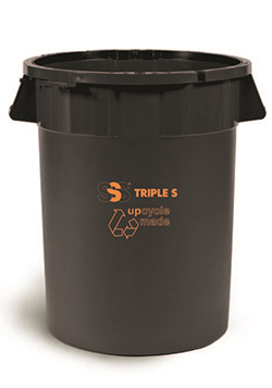 32G Waste Utility Can, Black SSS EarthCare PCR Delamo