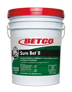 SURE BET™ II 5Gal/PL Acid Cleaner Disinfectant