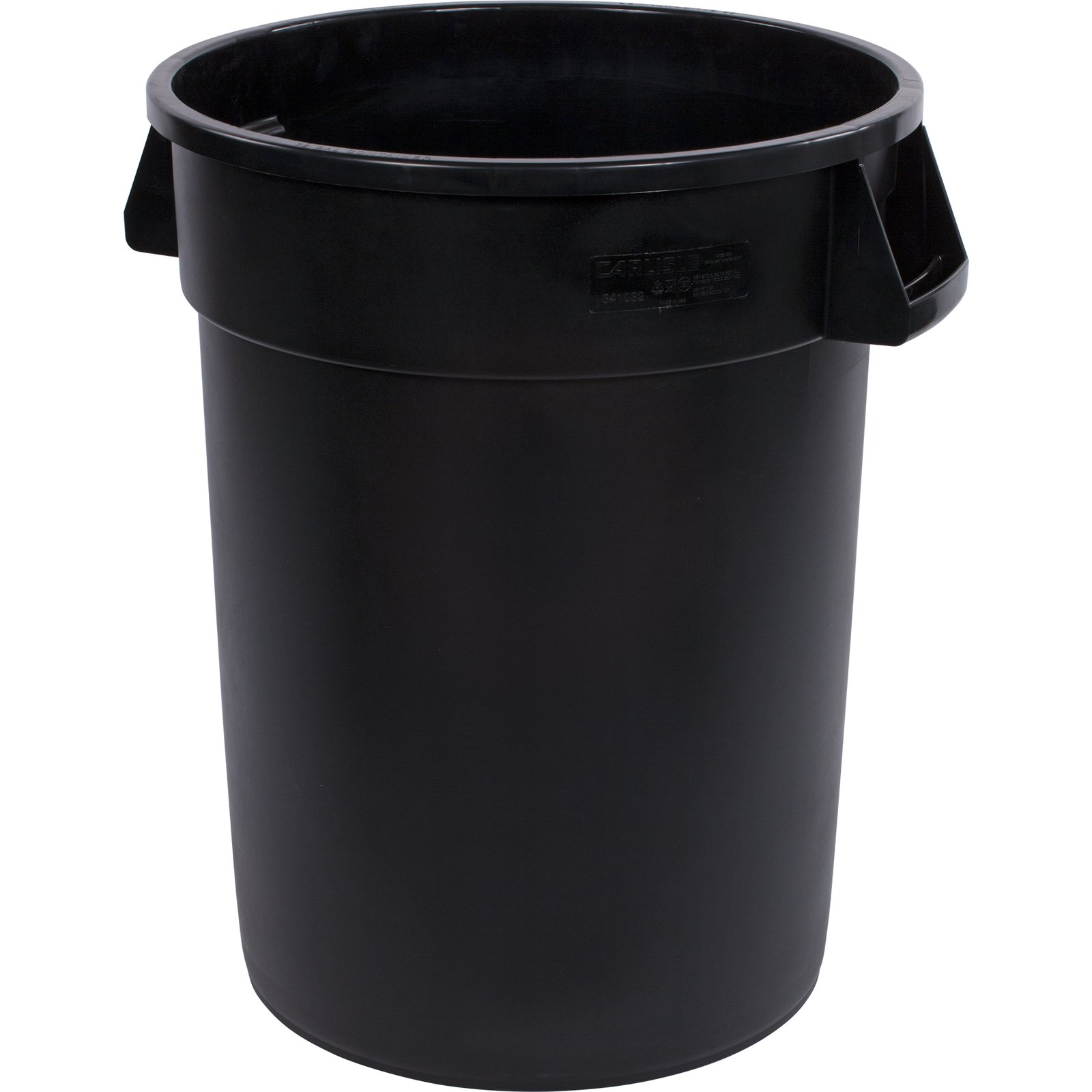 32GAL BLK CONTAINER 4CS BRONCO ROUND TRASH CONTAINER