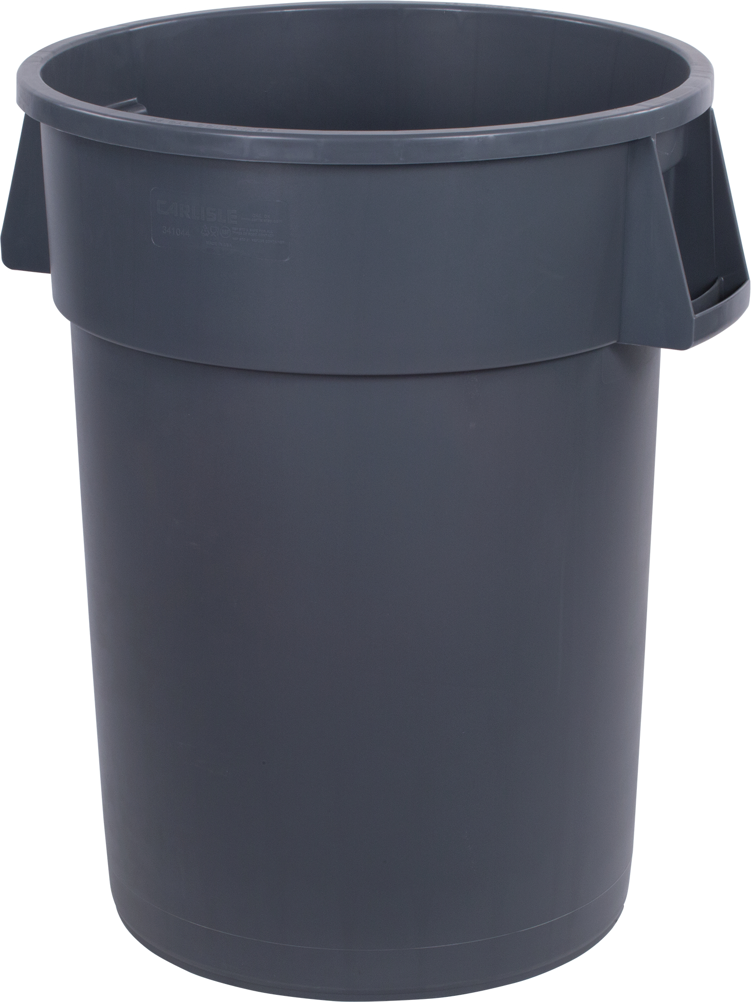 32GAL GRY CONTAINER 4CS BRUTE TRASH ROUND WASTE BIN RECEP